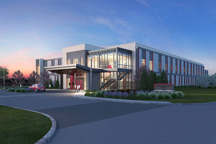 RENDERING COURTESY/COOPER UNIVERSITY HEALTH CARE The proposed $27 million, 90-bed addiction treatment facility in Cherry Hill is seen in a rendering. Scheduled to be completed in late 2019, it will be the first of several planned treatment facilities in the region.